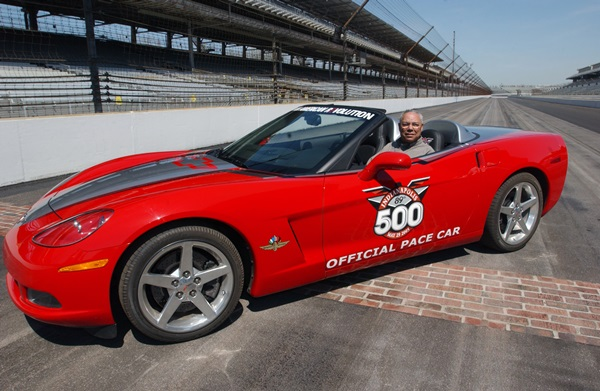 Colin Powell Drives 2005 Corvette Indy 500 Pace Car