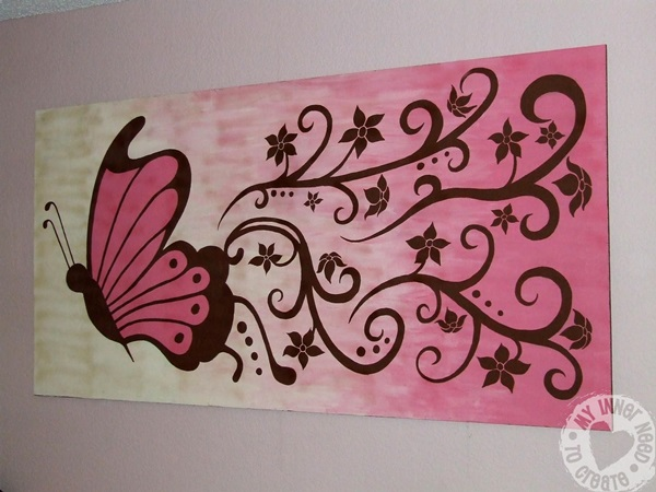 60 excellent but simple acrylic painting ideas for beginners for Butterfly wall mural