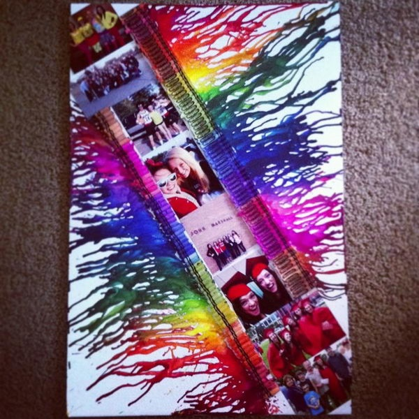 24 Cool Melted Crayon Art Ideas