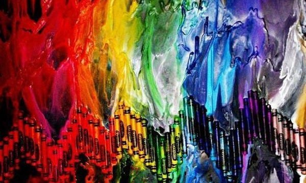 24 Cool Melted Crayon Art 7