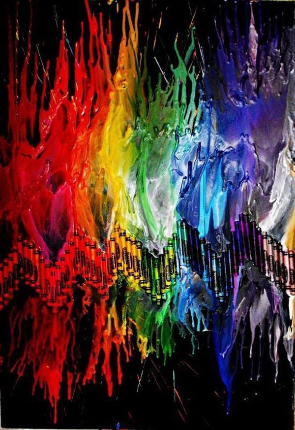 40 Cool Melted Crayon Art Ideas - 183.7KB