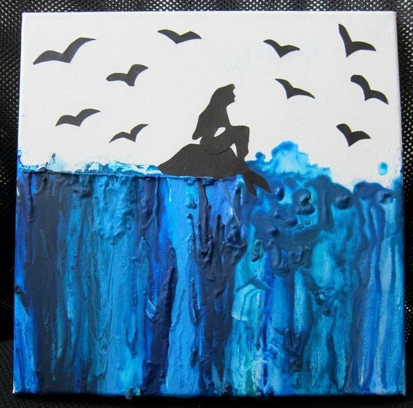 12 Diy Painting Ideas That Will Help You To Upgrade The: 40 Cool Melted Crayon Art Ideas