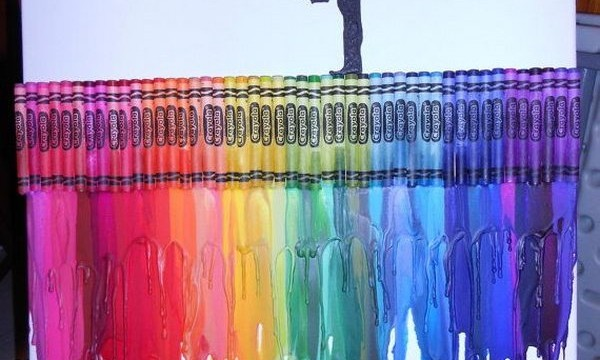 24 Cool Melted Crayon Art 9