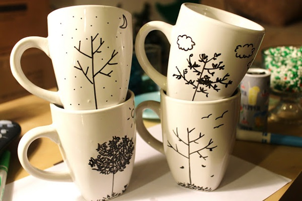 40 creative coffee mug painting ideas feature image