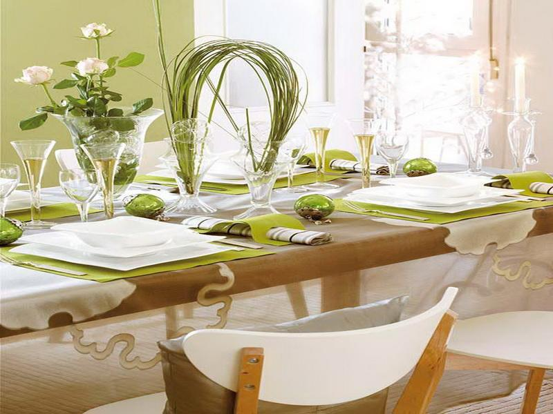 40 useful dining table decoration ideas for Dining table decoration images