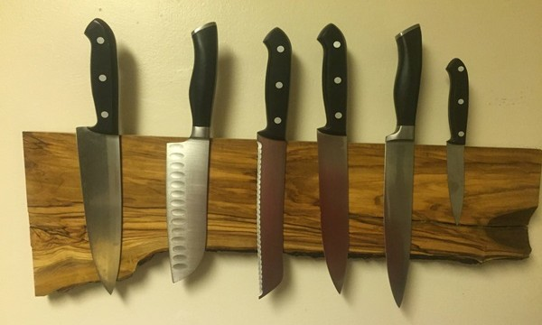 DIY Magnetic Knife Board Tutorial Feature Image