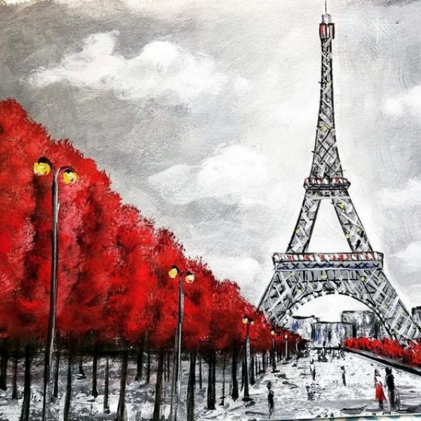 Easy and Beautiful Eiffel Tower Drawing and Sketches00002