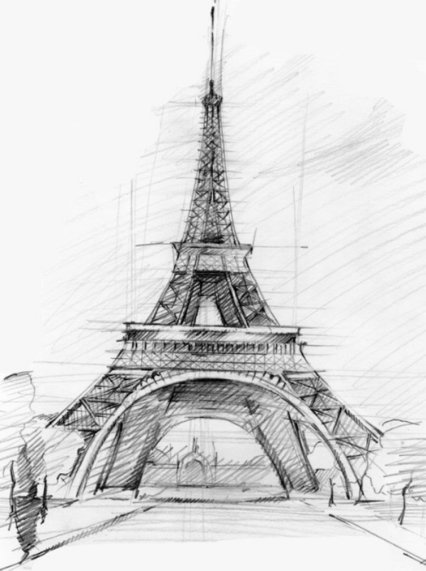 Eiffel Tower Pencil Sketch 70 Easy and Bea...