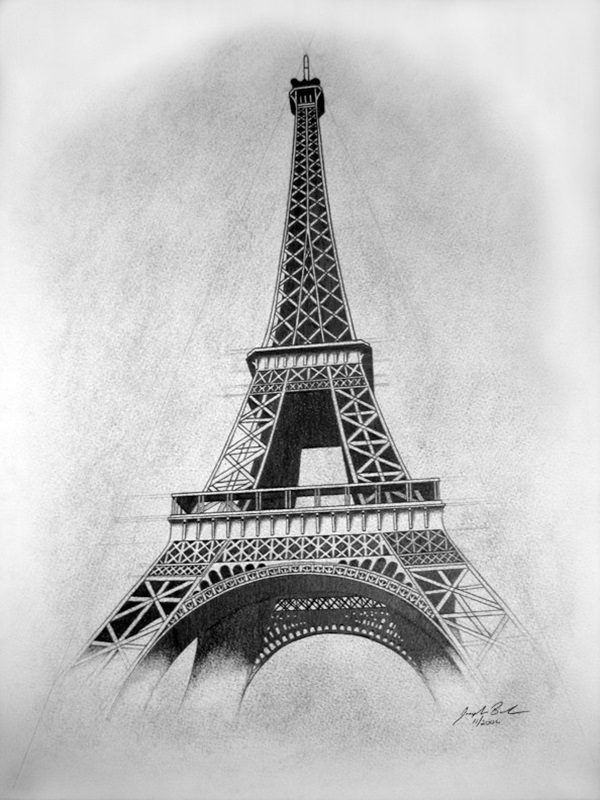 Eiffel Tower Pencil Sketch 70 Easy and Beautiful ...
