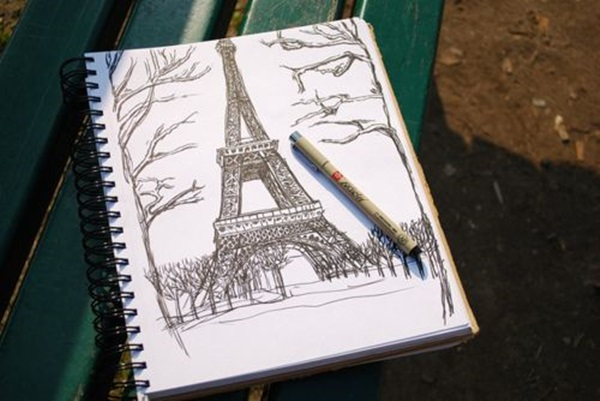 eiffel tower drawing and sketches (10)