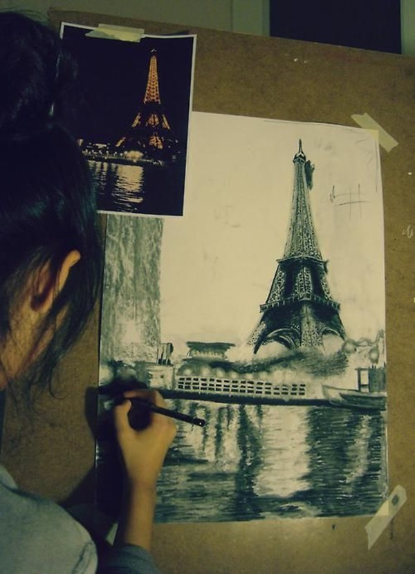 eiffel tower drawing and sketches (13)