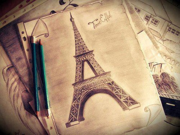 eiffel tower drawing and sketches (14)