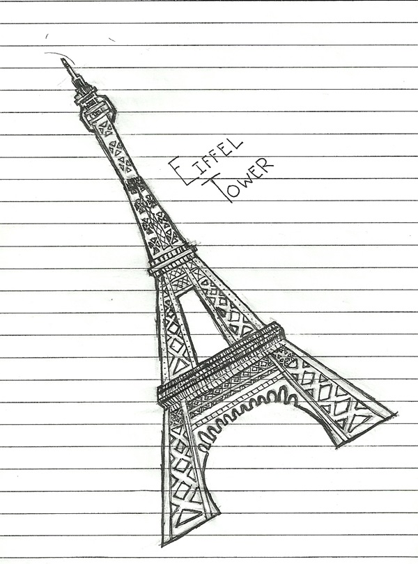 eiffel tower drawing and sketches (4)