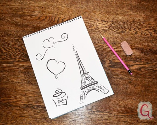 eiffel tower drawing and sketches (5)