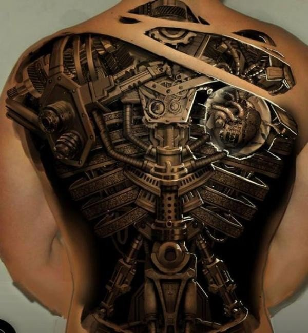25 Awesome Steampunk Tattoo Ideas 1