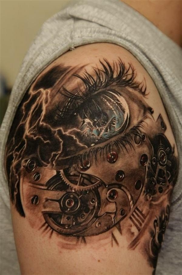 25 Awesome Steampunk Tattoo Ideas 3