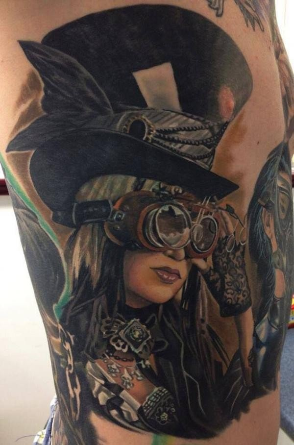 25 Awesome Steampunk Tattoo Ideas 7
