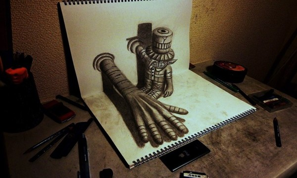 35 extremely Beautiful Illusion Drawings Feature Image