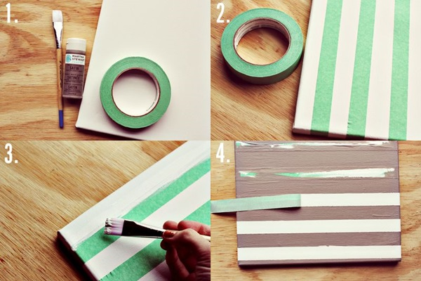 80 easy canvas painting ideas for Easy diy arts and crafts