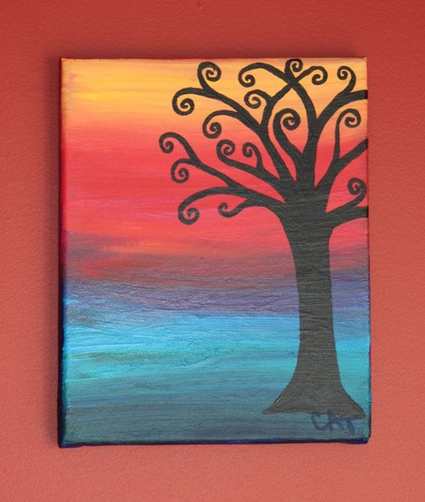 80 easy canvas painting ideas for How to make canvas painting