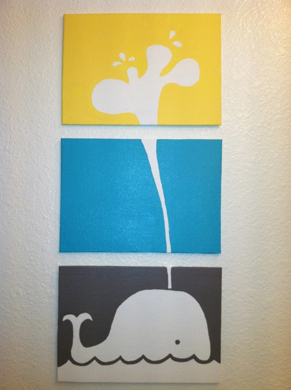 80 easy canvas painting ideas for Bathroom canvas painting ideas