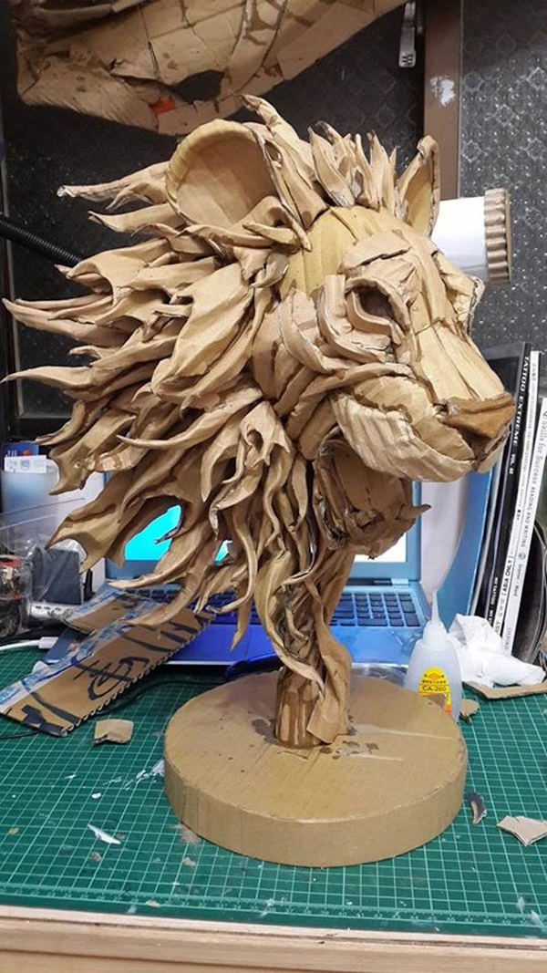 30 Amazing Cardboard Sculptures 36