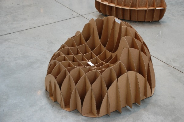 Some Great Ideas to Recycled Cardboard Furniture