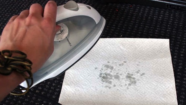 how to get melted crayon out of car seat