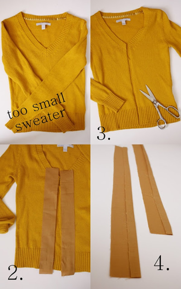 Beautiful DIY Cardigan Conversion Ideas for Pregnant Mothers 1
