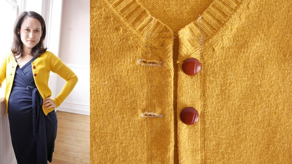 Beautiful DIY Cardigan Conversion Ideas for Pregnant Mothers 4