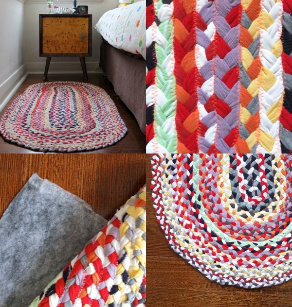 DIY Braided T-Shirt Rug Tutorial  8