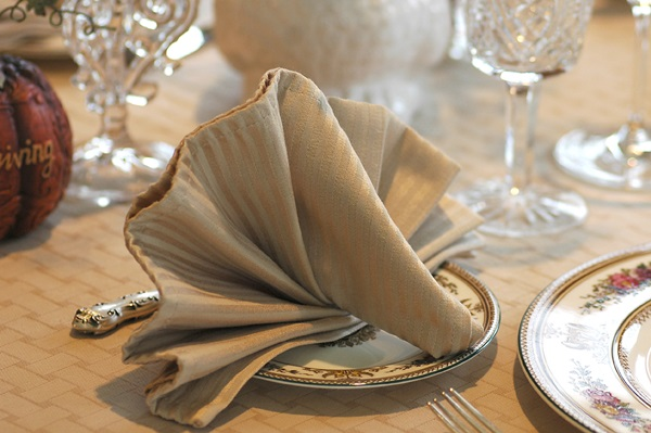30 simple and creative table napkin folding ideas for How to fold napkins into turkeys