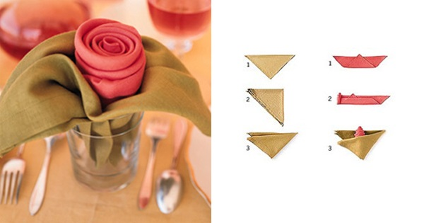 30 Creative Napkin Folding Ideas 7