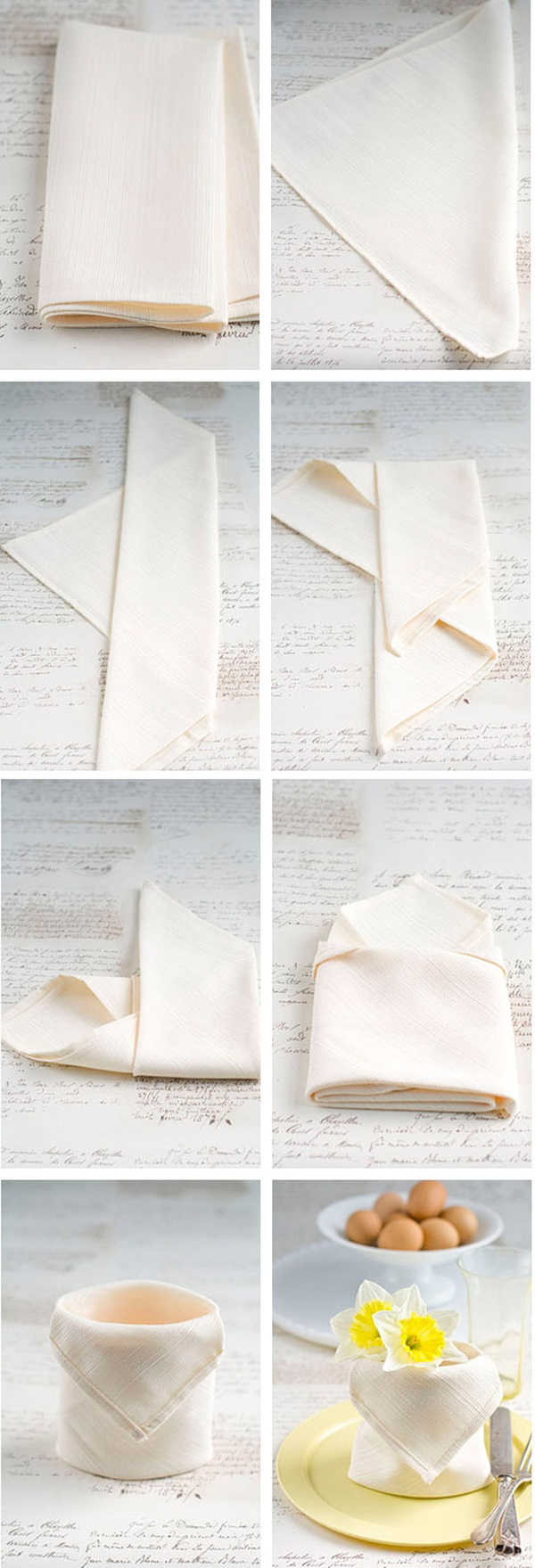 30 Creative Napkin Folding Ideas 8