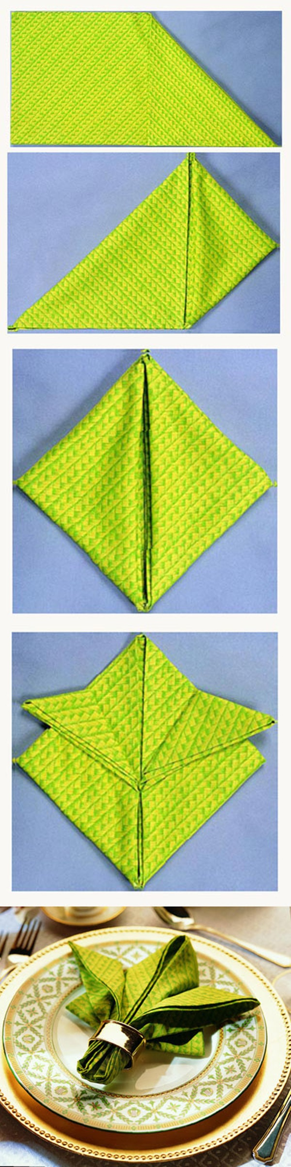 30 Creative Napkin Folding Ideas 9