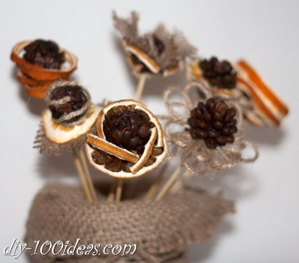 Amazing DIY Coffee Beans Crafts Coffee-beans-flower