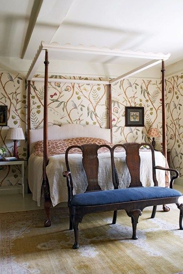 30 amazing designs of poster wallpapers for bedroom for Wood wallpaper bedroom
