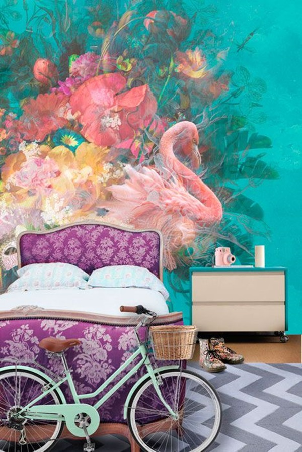 40 Amazing Design of Poster Wallpapers for Bedroom 32