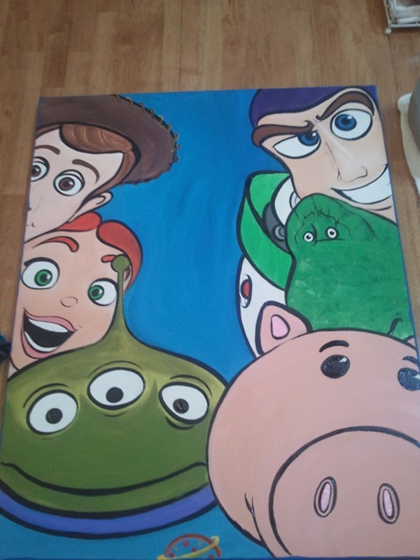 40 pictures of cool disney painting ideas page 2 of 2 for Cool art canvas ideas