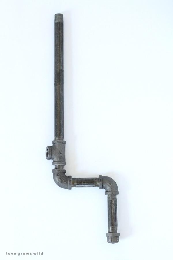 DIY Industrial Pipe Stool Tutorial 1