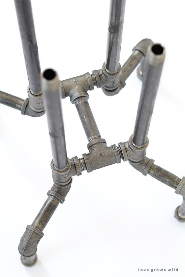 DIY Industrial Pipe Stool Tutorial 4