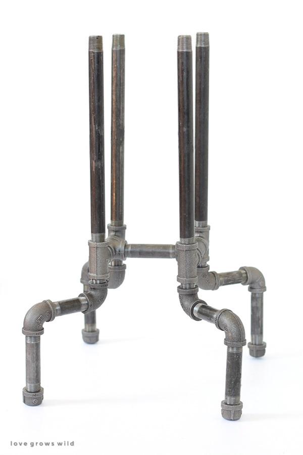 DIY Industrial Pipe Stool Tutorial 4b