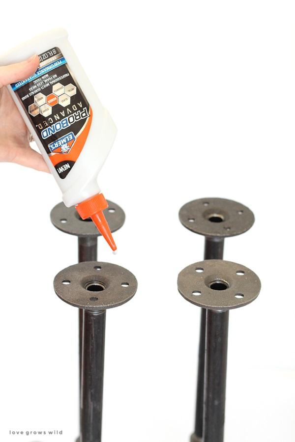 DIY Industrial Pipe Stool Tutorial 6b