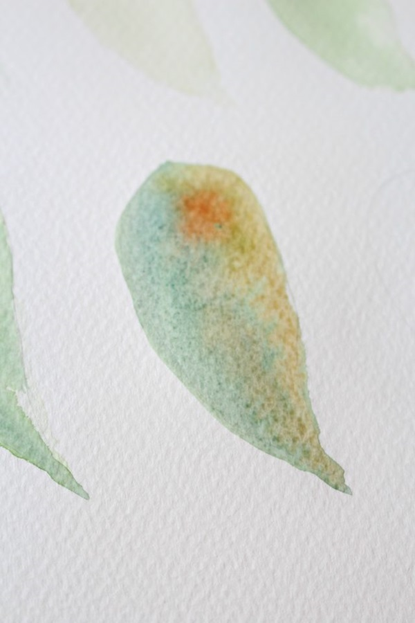 How to Paint a Basic Leaf with Water color 9