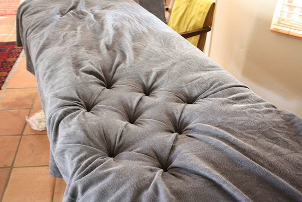 DIY ButtonTufted Headboard Tutorial 5