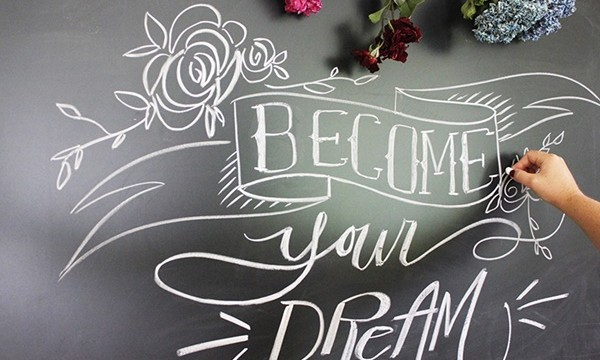 DIY Perfect Chalkboard Lettering Feature Image
