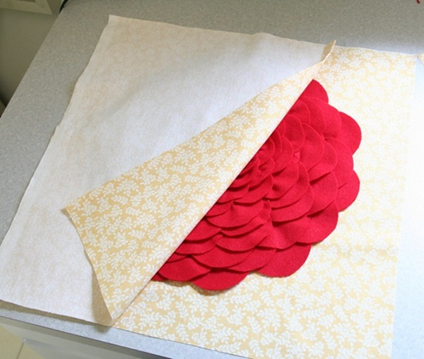 DIY Petal Pillow Tutorial 13
