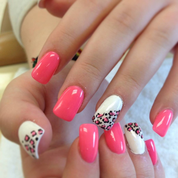 40 Cool and Simple Acrylic Nail Designs 14