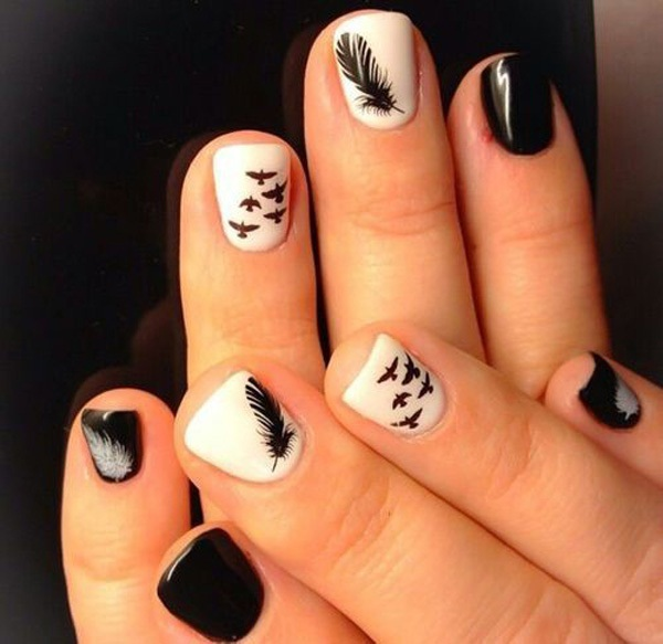 40 Cool and Simple Acrylic Nail Designs 20