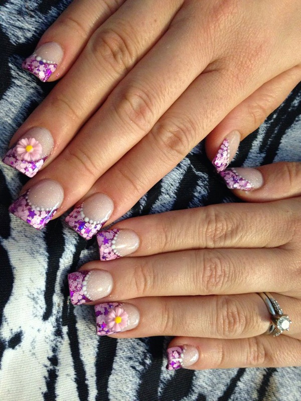 40 Cool and Simple Acrylic Nail Designs 22